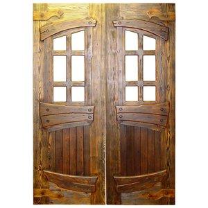 Двойные двери из массива сосны