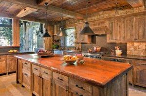 Кухня русский деревенский стиль