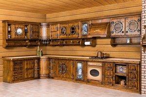 Кухня из массива под старину