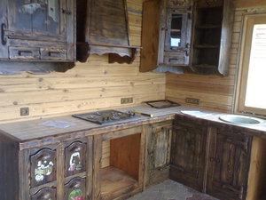 Кухня для дачи под старину