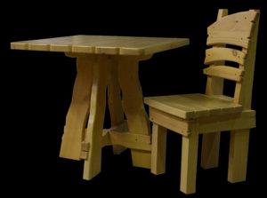 Изготовление столов и стульев для бани
